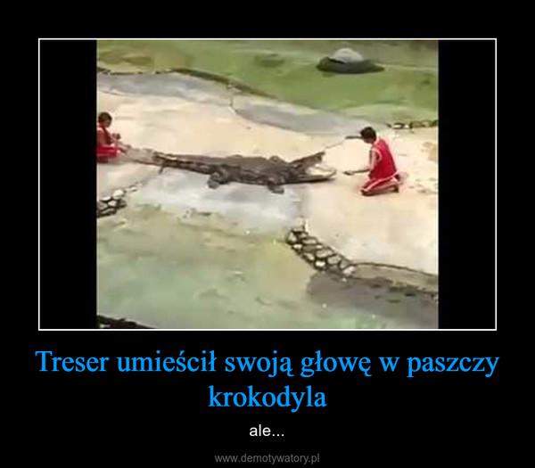 Treser umieścił swoją głowę w paszczy krokodyla – ale...