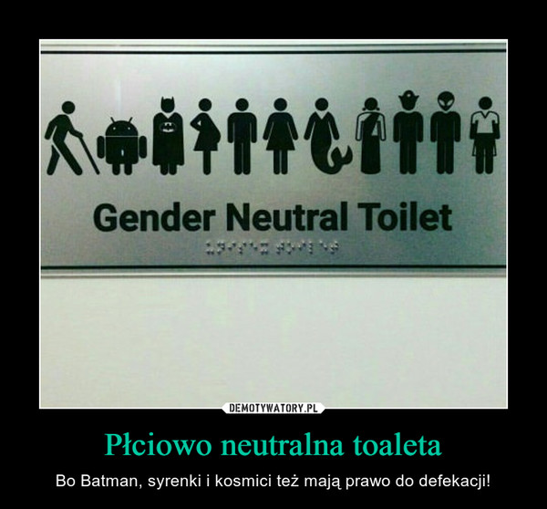 Płciowo neutralna toaleta – Bo Batman, syrenki i kosmici też mają prawo do defekacji! Gender Neutral Toilet