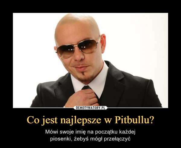 Co jest najlepsze w Pitbullu? – Mówi swoje imię na początku każdejpiosenki, żebyś mógł przełączyć