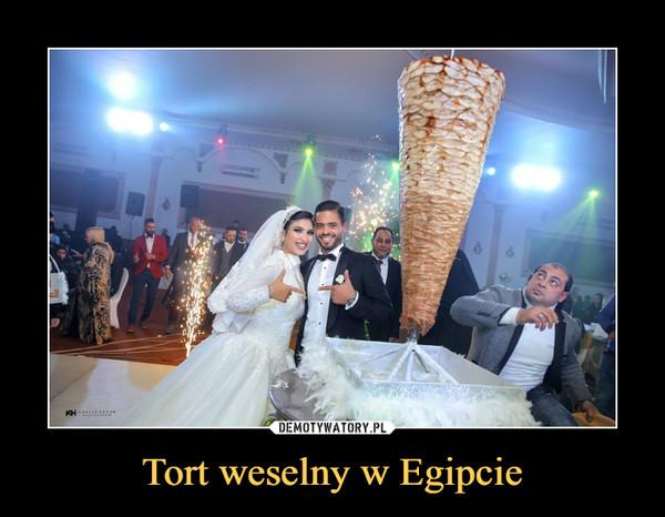 Tort weselny w Egipcie –