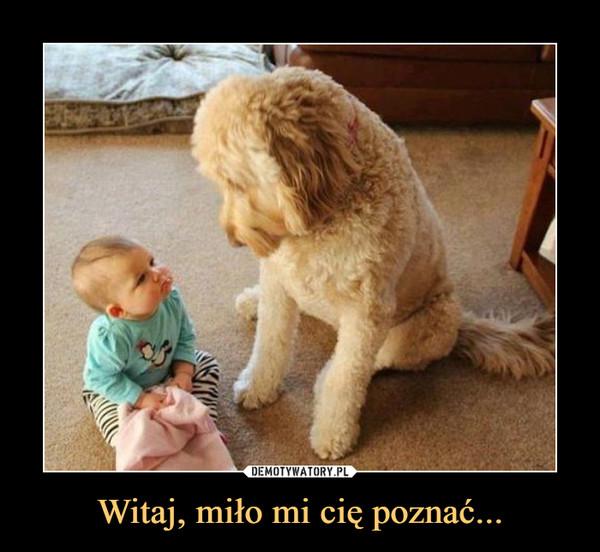 Witaj, miło mi cię poznać... –