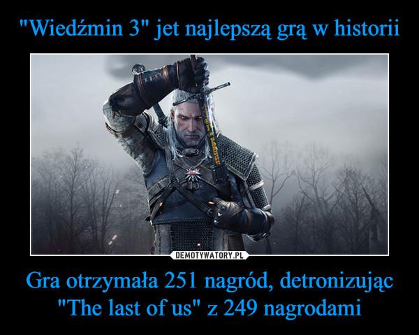 """Gra otrzymała 251 nagród, detronizując """"The last of us"""" z 249 nagrodami –"""