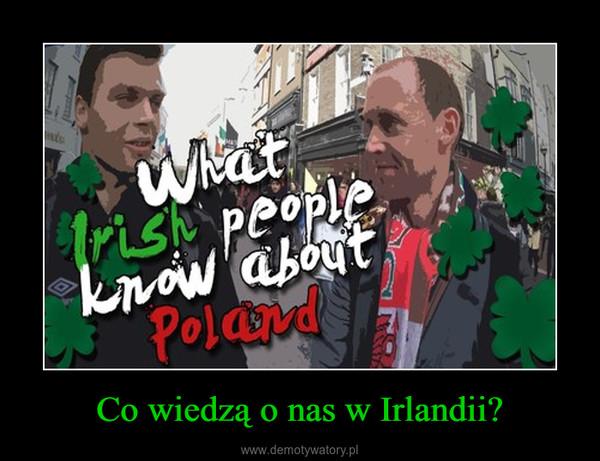 Co wiedzą o nas w Irlandii? –