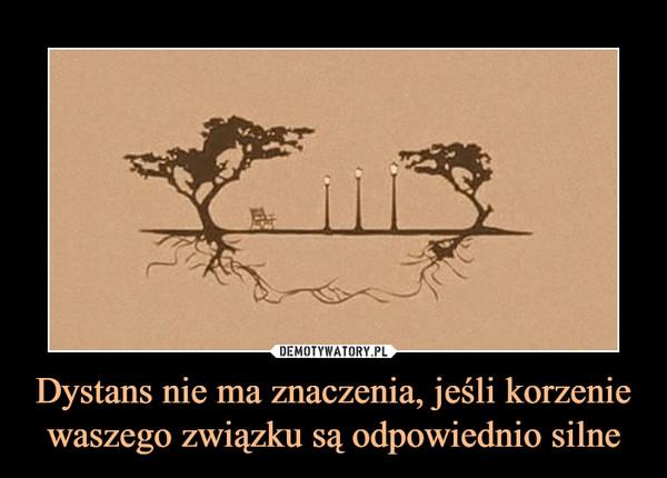 Dystans nie ma znaczenia, jeśli korzenie waszego związku są odpowiednio silne –