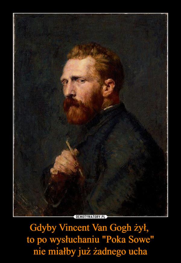 """Gdyby Vincent Van Gogh żył, to po wysłuchaniu """"Poka Sowe""""nie miałby już żadnego ucha –"""