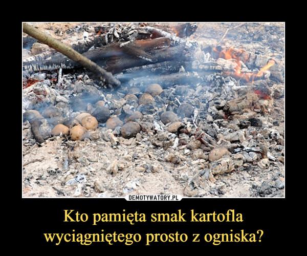 Kto pamięta smak kartoflawyciągniętego prosto z ogniska? –