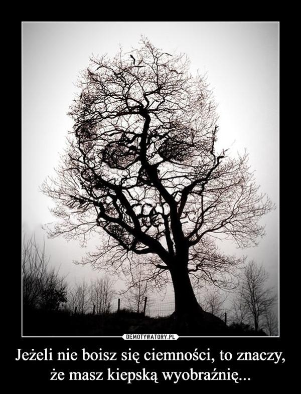 Jeżeli nie boisz się ciemności, to znaczy, że masz kiepską wyobraźnię... –