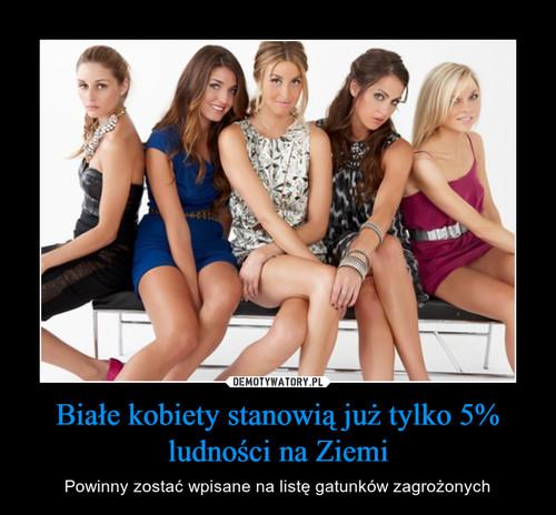 Białe kobiety stanowią już tylko 5% ludności na Ziemi