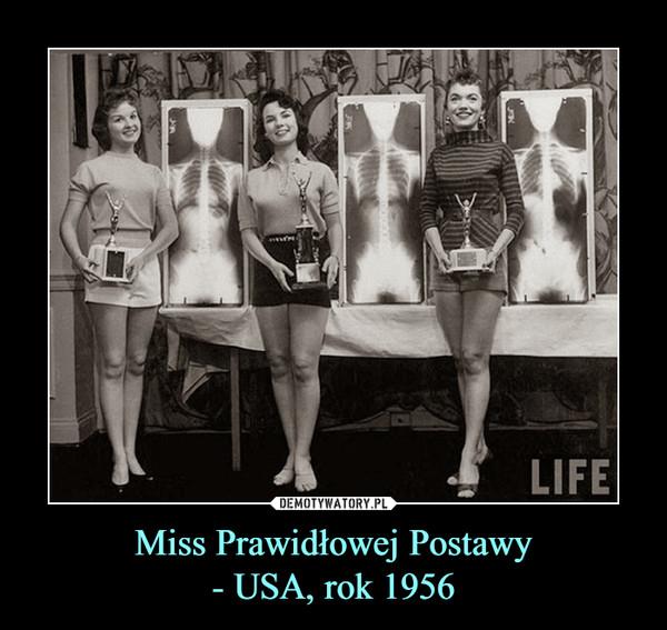 Miss Prawidłowej Postawy- USA, rok 1956 –