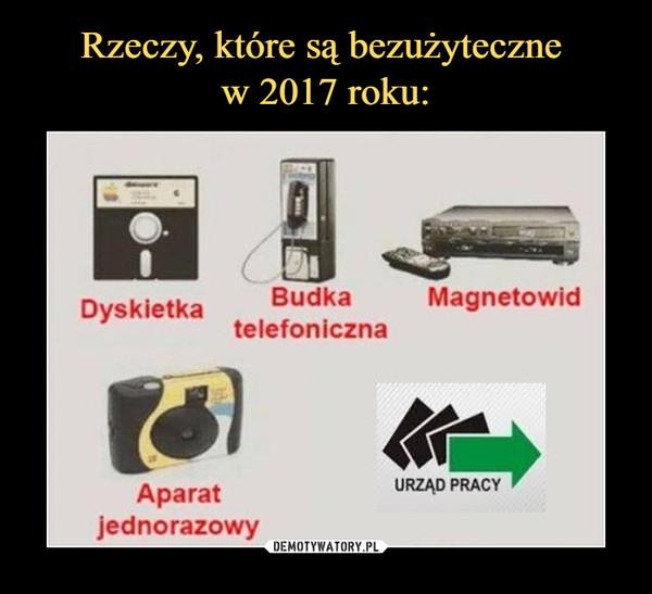 –  dyskietka budka telefoniczna magnetowid aparat jednorazowy urząd pracy