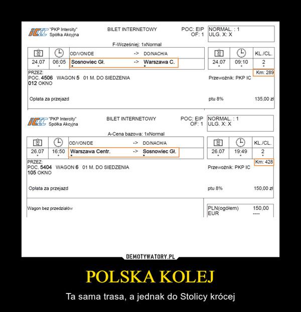 POLSKA KOLEJ – Ta sama trasa, a jednak do Stolicy krócej