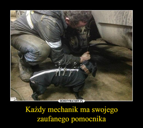 Każdy mechanik ma swojegozaufanego pomocnika –