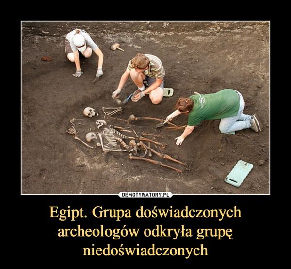 Egipt. Grupa doświadczonych archeologów odkryła grupę niedoświadczonych –