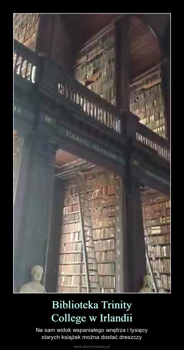 Biblioteka TrinityCollege w Irlandii – Na sam widok wspaniałego wnętrza i tysięcystarych książek można dostać dreszczy