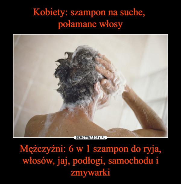 Mężczyźni: 6 w 1 szampon do ryja, włosów, jaj, podłogi, samochodu i zmywarki –