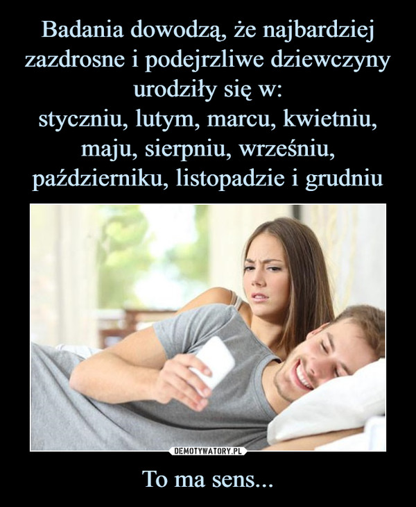To ma sens... –