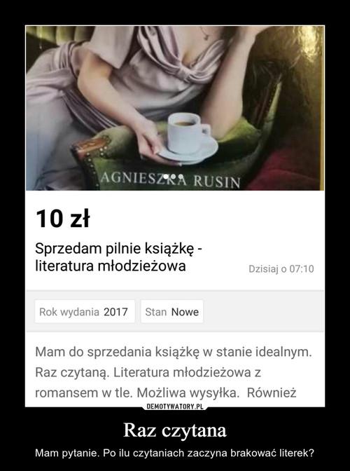Raz czytana