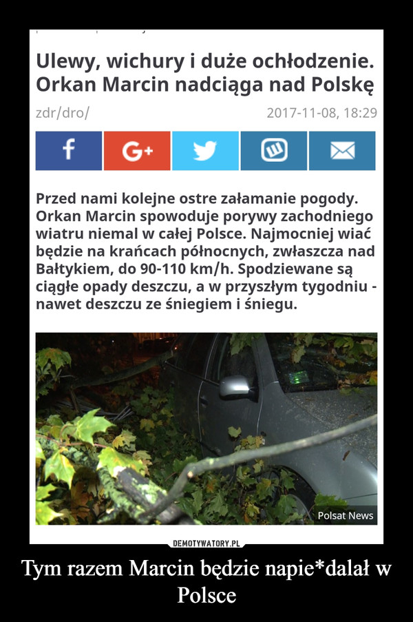 Tym razem Marcin będzie napie*dalał w Polsce –
