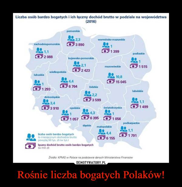 Rośnie liczba bogatych Polaków! –
