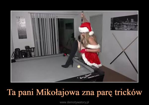 Ta pani Mikołajowa zna parę tricków –