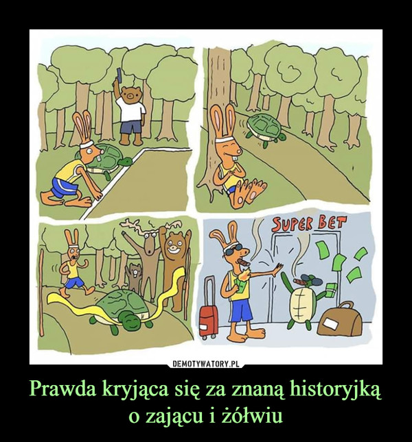 Prawda kryjąca się za znaną historyjkąo zającu i żółwiu –