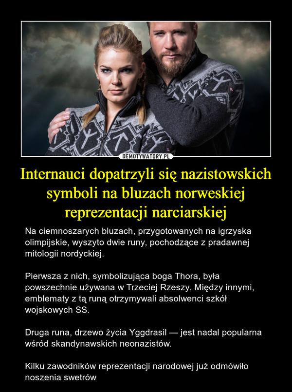 Internauci dopatrzyli się nazistowskich symboli na bluzach norweskiej reprezentacji narciarskiej