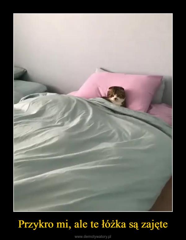 Przykro mi, ale te łóżka są zajęte –