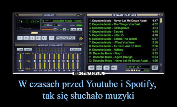 W czasach przed Youtube i Spotify, tak się słuchało muzyki –