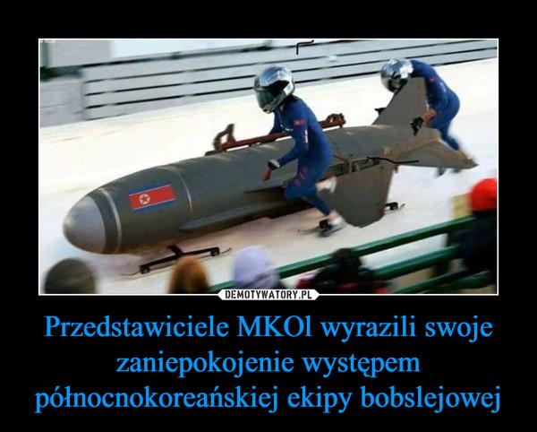 Przedstawiciele MKOl wyrazili swoje zaniepokojenie występem północnokoreańskiej ekipy bobslejowej –