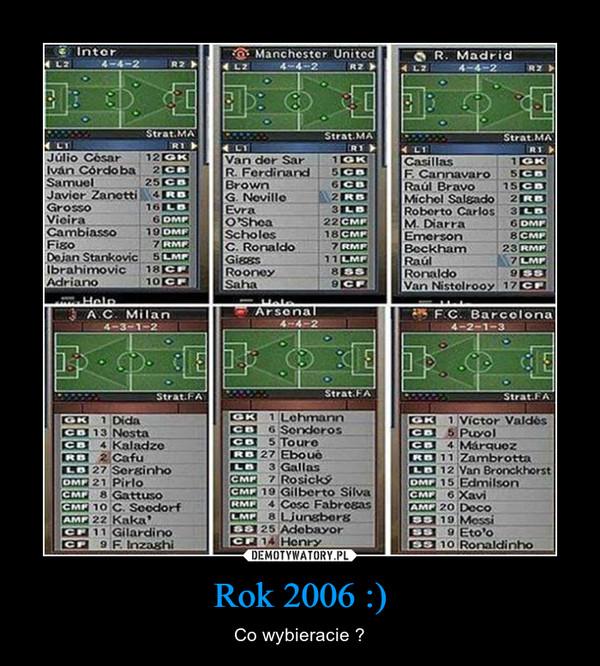 Rok 2006 :) – Co wybieracie ?