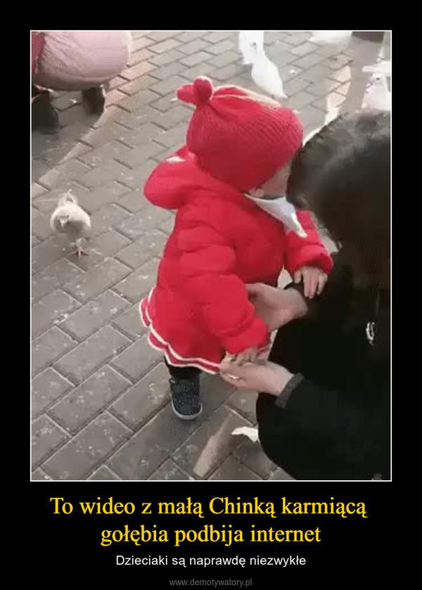 To wideo z małą Chinką karmiącą gołębia podbija internet – Dzieciaki są naprawdę niezwykłe