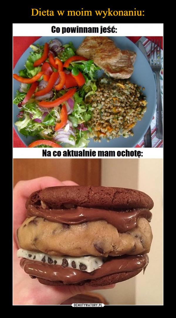 –  Co powinnam jeść:Na co aktualnie mam ochotę: