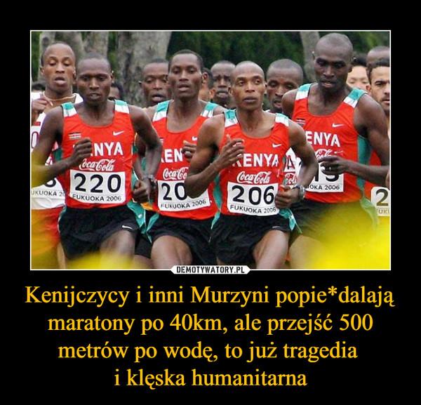 Kenijczycy i inni Murzyni popie*dalają maratony po 40km, ale przejść 500 metrów po wodę, to już tragedia i klęska humanitarna –