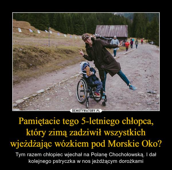 Pamiętacie tego 5-letniego chłopca, który zimą zadziwił wszystkich wjeżdżając wózkiem pod Morskie Oko? – Tym razem chłopiec wjechał na Polanę Chochołowską. I dał kolejnego pstryczka w nos jeżdżącym dorożkami
