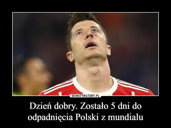 Dzień dobry. Zostało 5 dni do odpadnięcia Polski z mundialu –