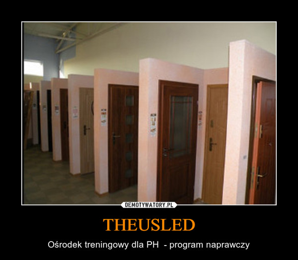 THEUSLED – Ośrodek treningowy dla PH  - program naprawczy