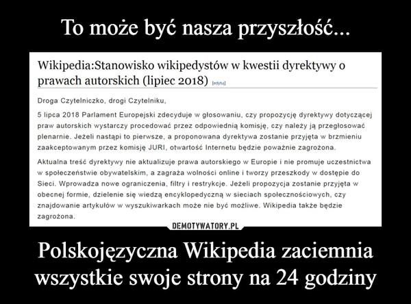 Polskojęzyczna Wikipedia zaciemnia wszystkie swoje strony na 24 godziny –