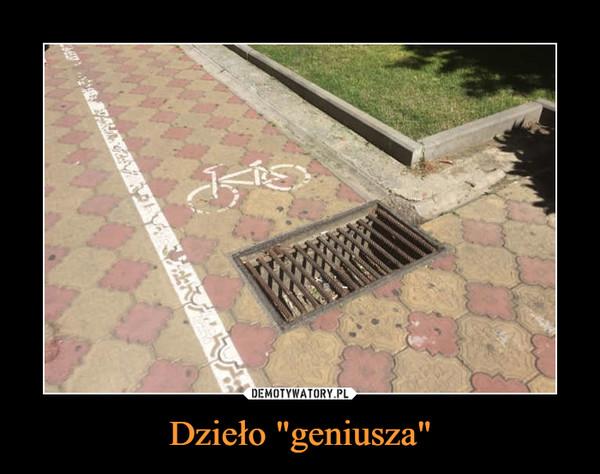 """Dzieło """"geniusza"""" –"""