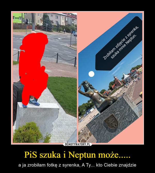 PiS szuka i Neptun może..... – a ja zrobiłam fotkę z syrenka, A Ty... kto Ciebie znajdzie