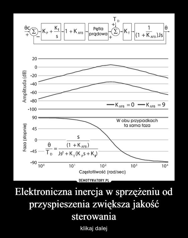 Elektroniczna inercja w sprzężeniu od przyspieszenia zwiększa jakość sterowania – klikaj dalej