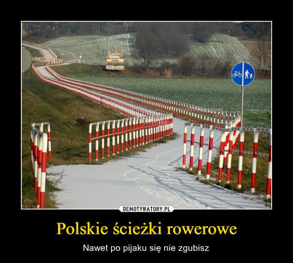 Polskie ścieżki rowerowe – Nawet po pijaku się nie zgubisz