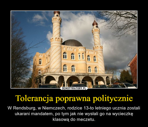Tolerancja poprawna politycznie