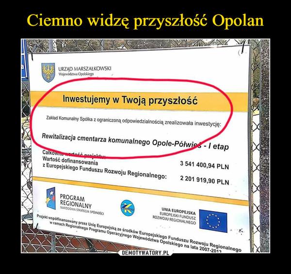 –  Inwestujemy w Twoją przyszłośćRewitalizacja cmentarza komunalnego Opole-Półwieś