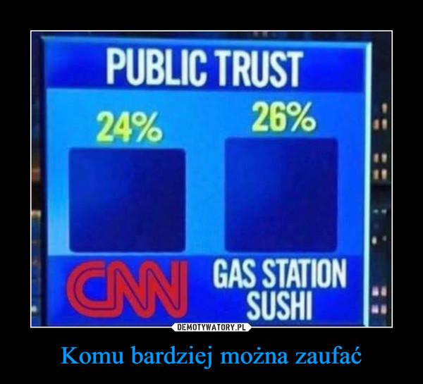 Komu bardziej można zaufać –