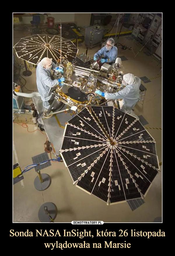 Sonda NASA InSight, która 26 listopada wylądowała na Marsie –