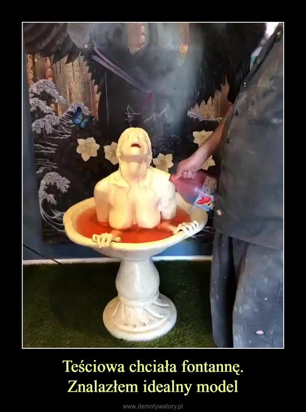 Teściowa chciała fontannę.Znalazłem idealny model –