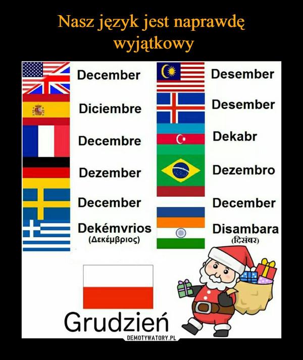 –  December Desember Diciembre Desember Decembre Dekabr Dezember Dezembro December December Dekćmvrios Disambara (AEKĆPPPIOS) Grudzień