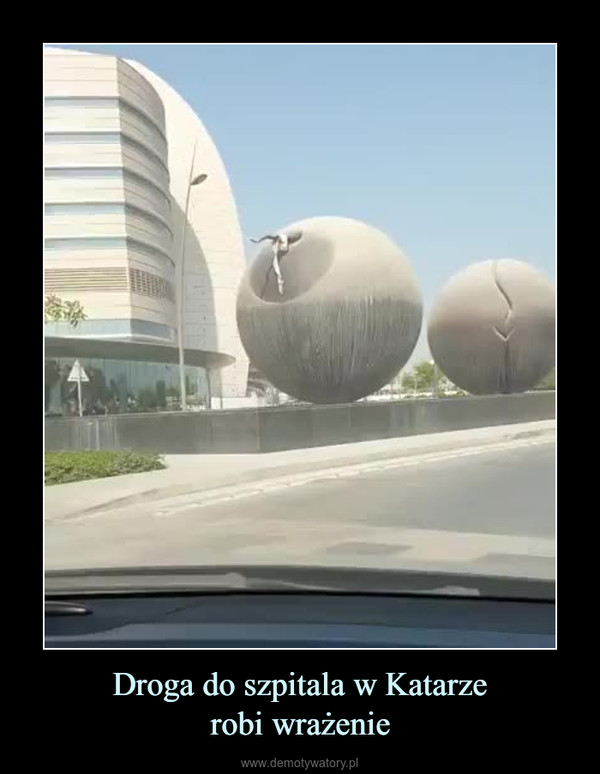 Droga do szpitala w Katarzerobi wrażenie –