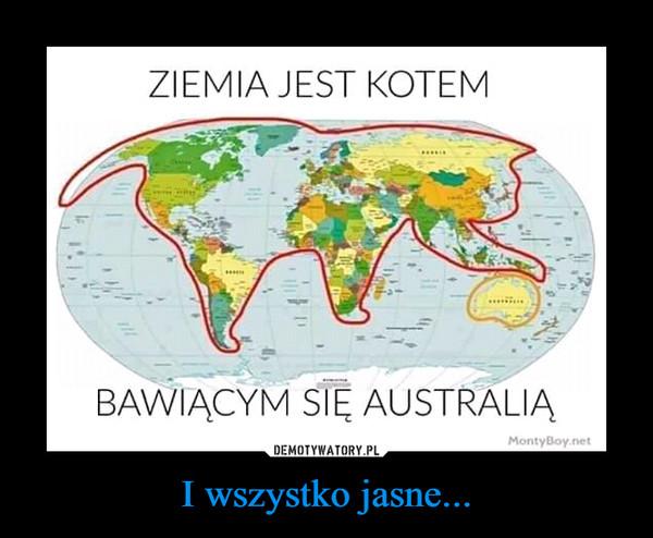 I wszystko jasne... –  Ziemia jest kotem bawiącym się Australią