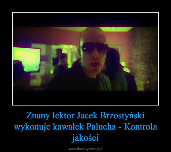 Znany lektor Jacek Brzostyński wykonuje kawałek Palucha - Kontrola jakości –